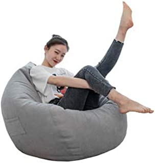 Wonderful thoughts Beanbag beanbag small apartment balcony living room sofa fabric sofa furniture super soft drop Gray