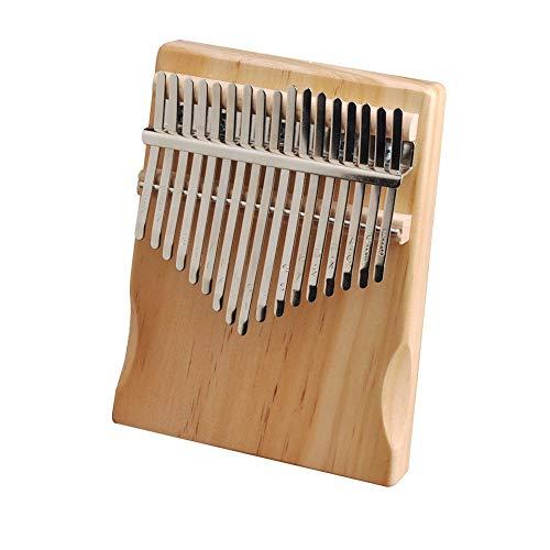 Kalimba, Daumenklavier 17 Keys Kalimba Pine Wood Daumen Finger Piano African Sanza Mbira Musikinstrument mit Tuning Tool Aufkleber for Anfänger for Kinder