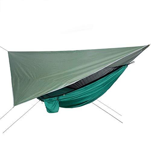 ZUQIEE Hammock Netting Hammock+Canopy Outdoor Camping Sun Shelter Portable Waterproof Swing Bed