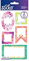Sticko Flat Stickers-Brushstroke Labels, 10/Pkg