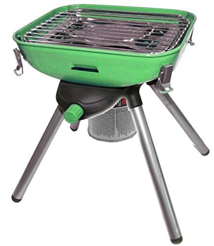 BBQ Multi Grill transportabler mobiler Party Gasgrill Tischgrill Mini mit Fettauffang mit Piezozündung Zum Grillen und Kochen