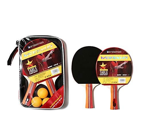 Braiton Raquetas De Tenis De Mesa, 2 Raquetas De Ping Pong Alta De Tenis De Mesa para El Jueg De Al Aire Libre Juego Portátil para Interior Al Aire Libre,Photo Color