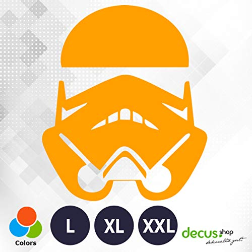 Decus Star Wars Stormtrooper L 0150 (orange) // Sticker OEM JDM Style Aufkleber