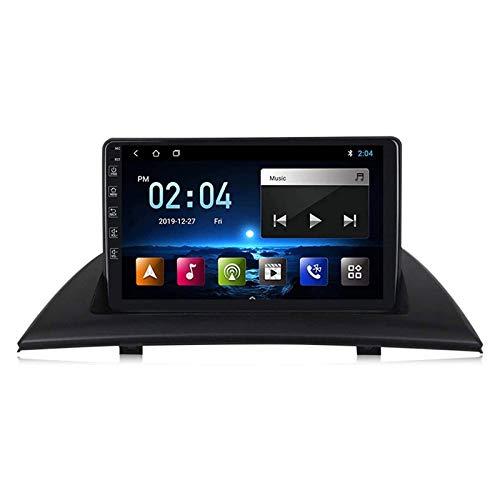 Coche Radio Estéreo 9 pulgadas HD Pantalla táctil para BMW X3 E83 2004-2012 FM AM Receptor GPS NAVEGACIÓN Internet Multimedia Player Head Unit con MP5 WiFi Bluetooth DSP Carplay,8 core 4g+wifi: 2+32gb
