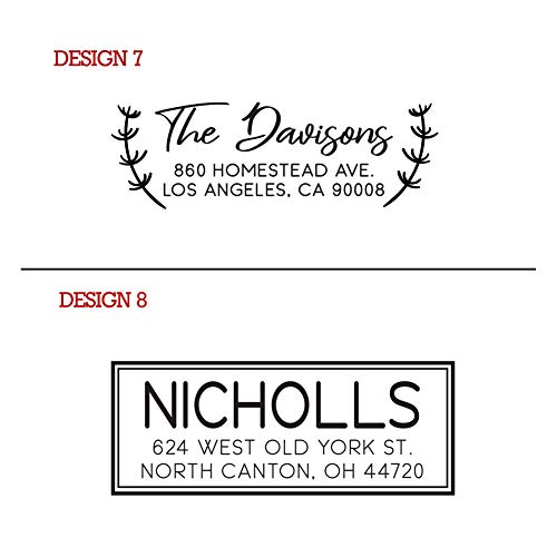 Typii - Custom Return Address Stamp Self Inking or Traditional Rubber Stamp - Name and Address Stamps - Wedding - Business - Personalized Stamp - 3 Lines - 7/8 X 2 3/8 Photo #7