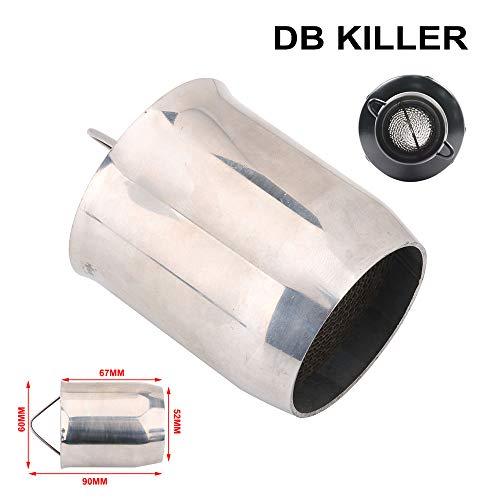51 mm Auspuffschalldämpfer, universell, abnehmbar, Schalldämpfer, Geräuschunterdrücker