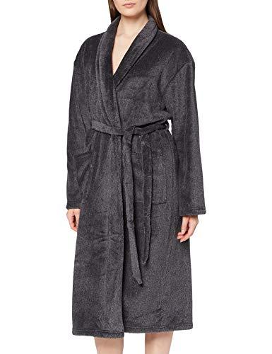 Calvin Klein Damen Fluffy Robe Pyjamaset, Schwarz, XS-S