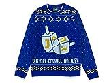 Tstars Hanukkah Ugly Christmas Sweater Dreidel Men Women Festive Holiday Sweater Large Multicolor