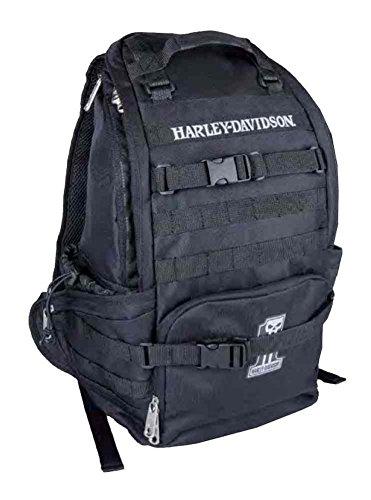 Harley-Davidson Night Ops Stellar Backpack, 1 Skull Patch Black 99214