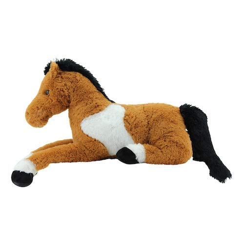 Plüschpferd in braun liegend ca. 90 cm groß XXL Sweety Toys Pferd Plüsch Fohlen