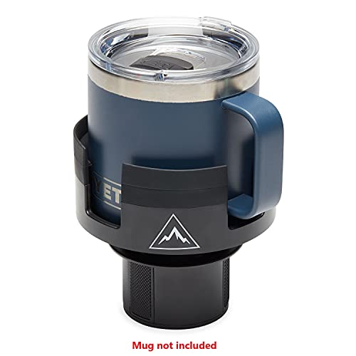 ESSENTIALLY ENGINEERED Rambler Coffee Mug Car Cup Holder Expander Organizer with Adjustable Base - Rubber Tabs Hold Most Coffee Mugs YETI Rambler 14oz 10oz