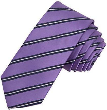 Dockers Boys Striped Necktie Purple White One Size product image