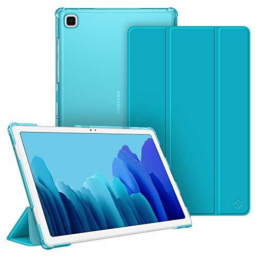 FINTIE Funda Compatible con Samsung Galaxy Tab A7 10.4' 2020 - Trasera Transparente Mate Carcasa Ligera con Auto-Reposo/Activación para Modelo SM-T500/T505/T507, Cian
