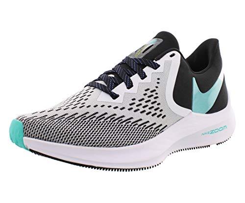 Nike Women's Zoom Winflo 6 Running Shoe (8.5, Black/White-Sapphire-Hyper Jade)