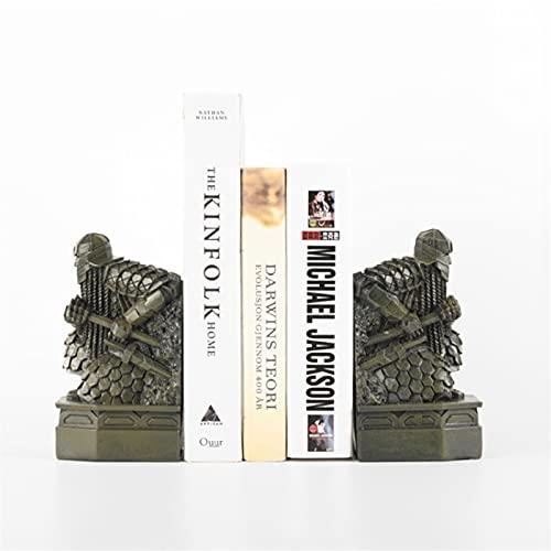 Bokstöd Bookends Dwarf Staty Bookend Bronze Colored Bookend Supports på Office Desk Bokshelf Decor Creative Gift för pappa och bröder Bokhylla dekor