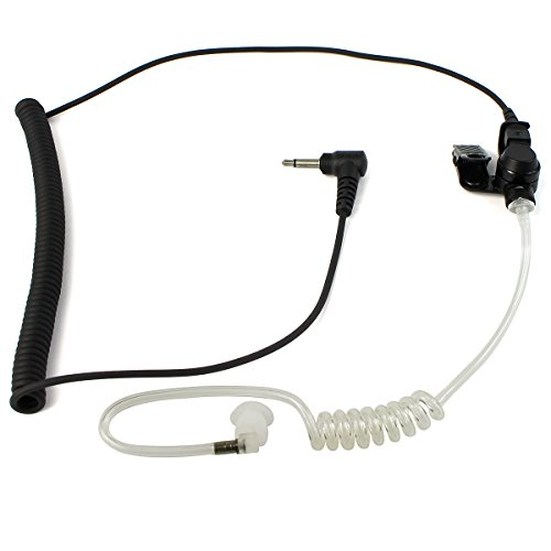 Retevis 3.5mm 1 Pin Earpiece Headset Audio Plug Listen/Receiver Only Surveillance Air Tube Earpiece for Motorola/Speaker Mic(1Pack)