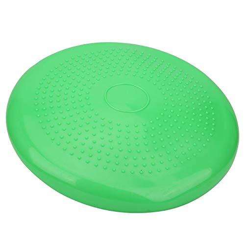 EVTSCAN Inflated Wobble Cushion, Thickened Yoga Inflatable Cushion Gym Sports Fitness Wobble Massage Balances Cushion(Green)