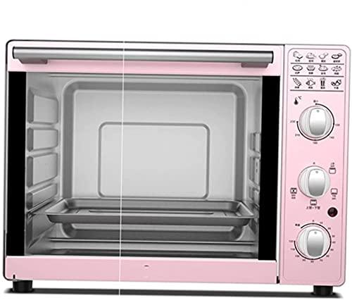 Air Fryer Horno eléctrico, 33L Mini Toaster Horno Combo para Familia Grande, Horno de Convección de Airros Aviones 1600W con Rotisserie - Freidora de aire rosa