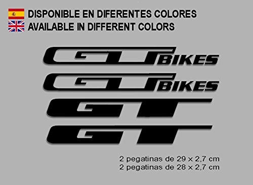 Ecoshirt 8O-WD6F-G2H1 Pegatinas GT Bikes F121 Vinilo Adesivi Decal Aufkleber Клей MTB Stickers Bike, Negro