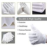 Zoom IMG-2 vockvic guanti bianchi cotone 12
