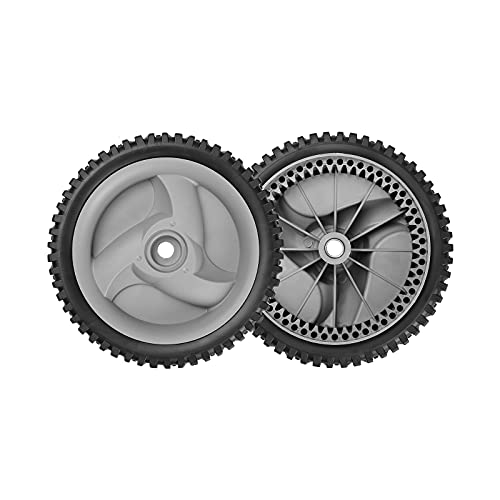 Fourtry Front Drive Wheels Fit for Craftsman Mower - Front Drive Tires Wheels Fit for Craftsman & HU Front Wheel Drive Self Propelled Lawn Mower Tractor, Replaces 583719501 194231X460, 2 Pack, Gray
