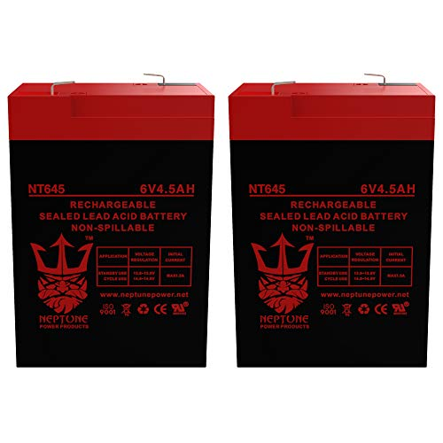 Neptune 6V 4.5Ah NT-645 Rechargeable SLA Sealed Lead Acid Battery - 2 Pack
