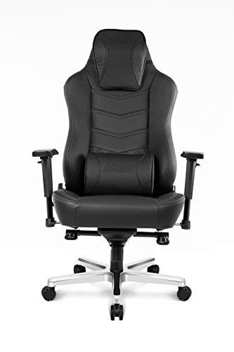 AKRacing Office Series Onyx Executive Desk Chair with High Backrest, Recliner, Swivel, Tilt, Rocker & Seat Height Adjustment Mechanisms with 5/10 - Black