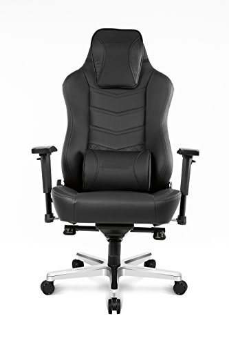 AKRacing Office Series Onyx Executive Desk Chair with High Backrest, Recliner, Swivel, Tilt, Rocker & Seat Height Adjustment Mechanisms with 5/10 Warranty - Black