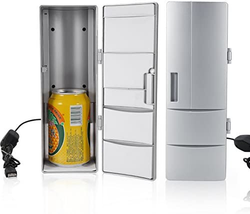 Garosa Portátil Mini USB Refrigerador Bebida Cerveza Bebidas Latas Refrigerador/Calentador Congelador Ordenador portátil Ordenador portátil Refrigerador para Auto