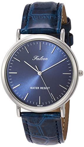 [シチズン Q&Q] 腕時計 アナログ 防水 革ベルト Q996-302 メンズ ネイビー