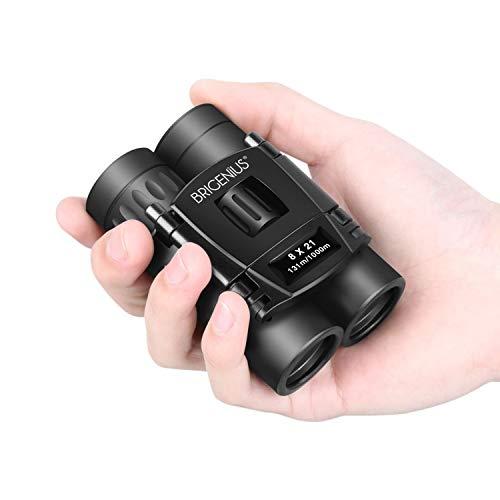 BRIGENIUS 8x21 Small Binoculars, Compact Binoculars for Adults Kids Bird Watching, Mini Pocket Lightweight Binoculars for Opera Concert Theater