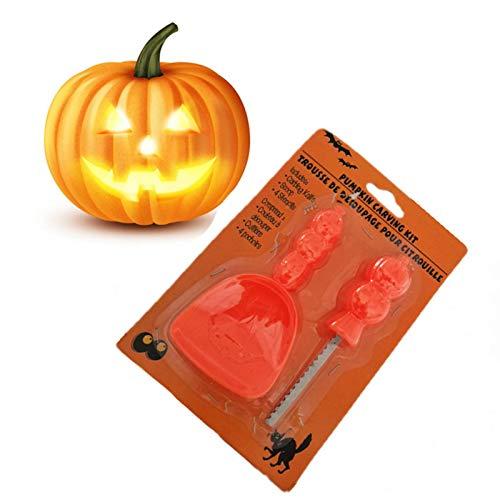 SOWLFE Kürbis-Schneidzubehör, sicheres, leicht zu modellierendes DIY-Schnitzset für Halloween-Dekoration
