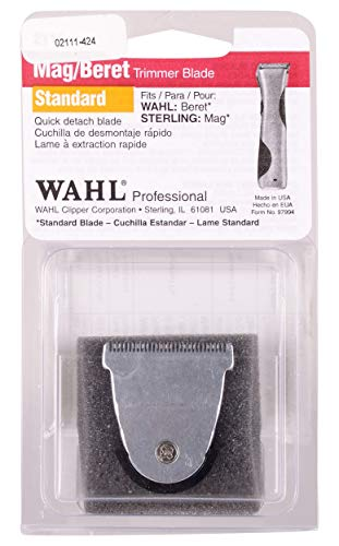 Wahl Professional Detachable Snap On Blade for the Beret, Echo, Sterling MAG, and Sterling 4 Trimmers for Professional Barbers and Stylists  Model 2111