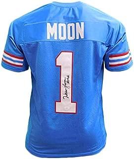 Warren Moon Signed Autographed Houston Oilers Football Jersey - JSA COA