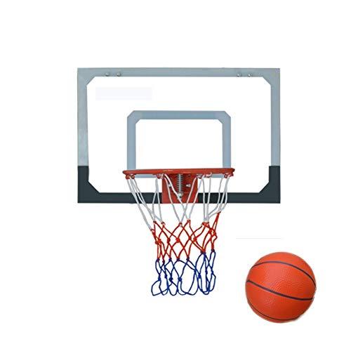 MHCYKJ Canasta Baloncesto Interior con Pelota Tablero De Aro Montado En La Pared para Niños Colgar sobre Puertas Hogar Oficina Dormitorio