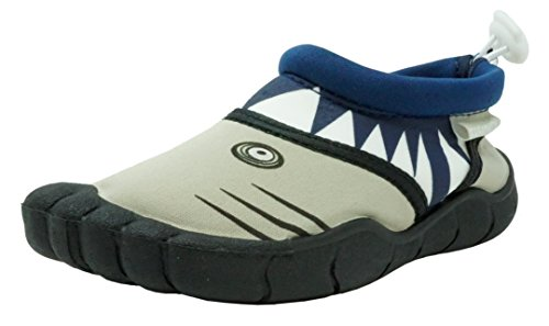 Fresko Toddler Water Shoes for Boys, Shark T1524, Navy, 6 M US Toddler