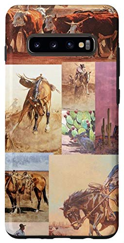 Galaxy S10+ Western Cowboy Collage Asethetic Phone Case For Girl & Boy Case