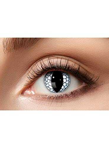 Maskworld Weißer Drache Kontaktlinsen / Monatslinsen - Motivlinsen ohne Sehstärke - Unisex - Erwachsene - ideal für Halloween, Karneval, Motto-Party & Fantasy-Fans