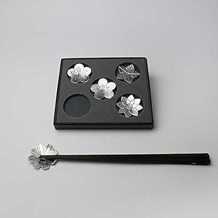 能作 箸置 - 花ばな - 5ヶ入 〔錫100%〕 501716