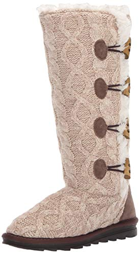 MUK LUKS womens Women's Felicity Knee High Boot, Beige, 11 US