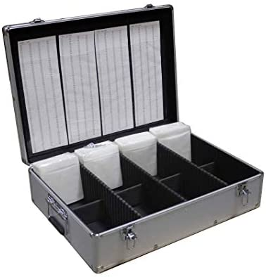 New MegaDisc 1000 CD DVD Silver Aluminum Media Storage Case Mess Free Holder Box with Sleeves product image