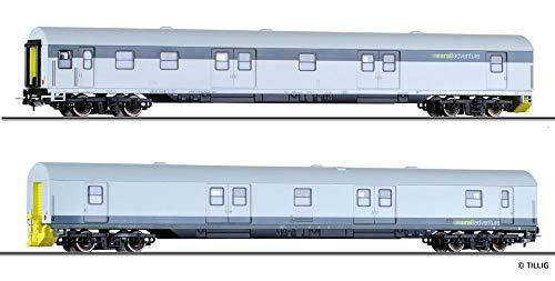 Tillig H0 70043 H0 2er-Set Packwagen Rail Adventure