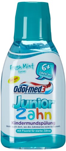 Odol med3 Mundspülung Junior 300ml, 3er Pack (3 x 300 ml)