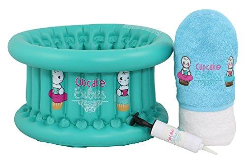 Cupcake Babies Baignoire Turquoise + Cape de Bain Aqua