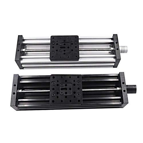 Ln 3D Printer Z-axis Lead Screw T8 Z Axis DIY C-Beam CNC Sliding Table 150mm 200mm 250mm Linear Actuator Bundle Kit - Silver (Color : Silver, Size : Lead 4mm L 250mm)