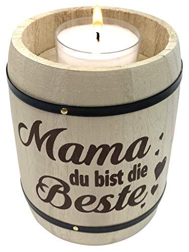 endlos schenken Geschenk für Mama Teelichthalter - Geschenkidee Muttertag - Mama du bist die Beste