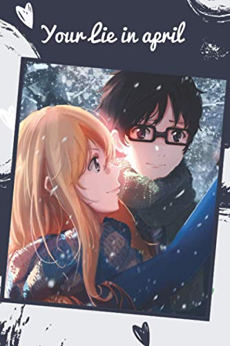 Composition Notebook Your Lie in April 1: anime Your Lie in April vol. 1 to vol. 10 (Your Lie in April manga ) Kousei Button Your Lie in April CHRISTMAS BIRTHDAY GIFT