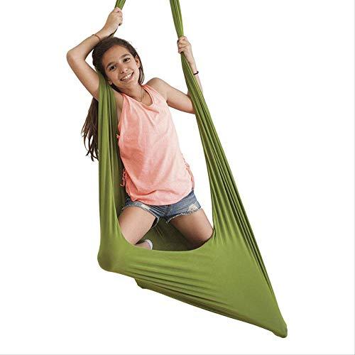 Dihge Terapia de hamaca para niños Swing Sensory Swing Swing Sensory Swing Sensory Swing para terapia infantil, elástica, 100 x 280 cm, 100 x 280 cm, verde, 410 g