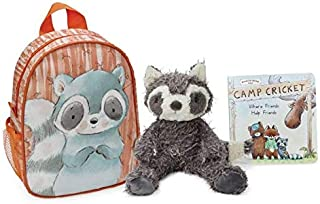 Bunnies by the Bay Roxy The Raccoon Camp Cricket Gift Set with Book and Backpack