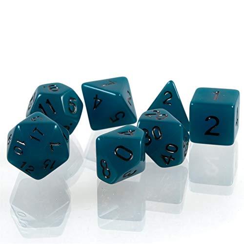 shibby 60015724 7 polyedrische leuchtende Würfel, Blau